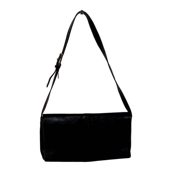 Francesco Biasia Vintage Black Leather Bag